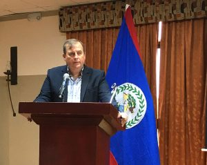 Attorney Joel Nagel speaking at Live and Invest Overseas Belize Conference